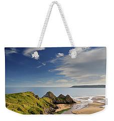 Three Cliffs Bay 4 Weekender Tote Bag