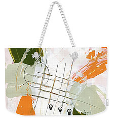 Weekender Tote Bag featuring the painting Three Color Palette Orange 3 by Michal Mitak Mahgerefteh