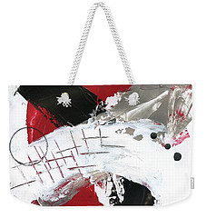 Weekender Tote Bag featuring the painting Three Color Palette Red 2 by Michal Mitak Mahgerefteh
