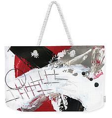 Three Color Palette Red 2 Weekender Tote Bag by Michal Mitak Mahgerefteh
