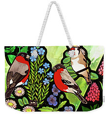 Weekender Tote Bag featuring the photograph Three Company by Munir Alawi