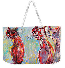 Three Cool Cats Weekender Tote Bag