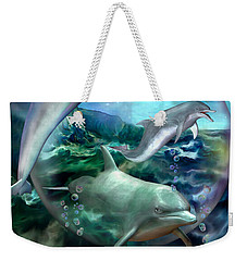 Three Dolphins Weekender Tote Bag