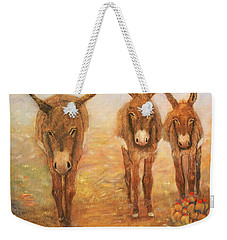 Three Donkeys Weekender Tote Bag