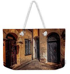 Three Doors In Warsaw Weekender Tote Bag by Carol Japp