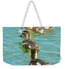 Three Ducklings Swimming Weekender Tote Bag