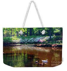 Three Ducks At The Azalea Pond Weekender Tote Bag