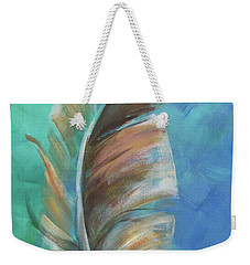 Three Feathers Triptych-center Panel Weekender Tote Bag