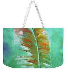 Three Feathers Triptych-left Panel Weekender Tote Bag