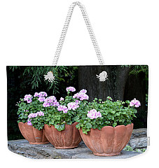 Three Flower Pots Weekender Tote Bag