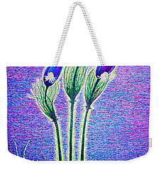 Three Flowers Weekender Tote Bag by Viktor Lazarev