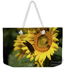 Weekender Tote Bag featuring the photograph Three For Lunch by Sandy Molinaro