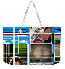 Three Girls Weekender Tote Bag by Andrew Drozdowicz