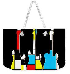 Three Guitars Modern Tee Weekender Tote Bag by Edward Fielding