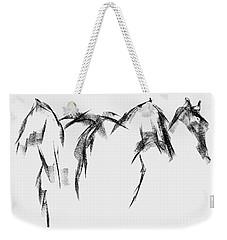 Three Horse Sketch Weekender Tote Bag by Frances Marino