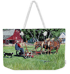 Three Horsepower Weekender Tote Bag