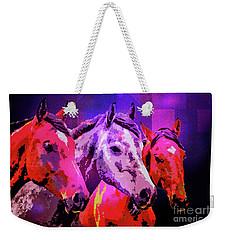 Three Horses Weekender Tote Bag