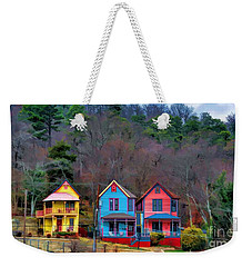 Weekender Tote Bag featuring the photograph Three Houses Hot Springs Ar by Diana Mary Sharpton