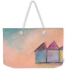 Three Houses Weekender Tote Bag by Valerie Reeves