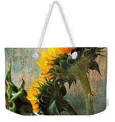 Weekender Tote Bag featuring the photograph Three by John Rivera
