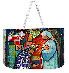 Three Kings O Come Let Us Adore Him Weekender Tote Bag