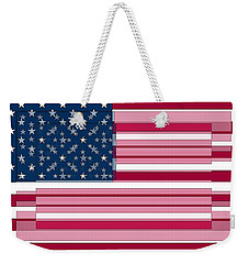 Three Layered Flag Weekender Tote Bag by David Bridburg