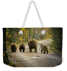 Three Little Bears And Mama Weekender Tote Bag