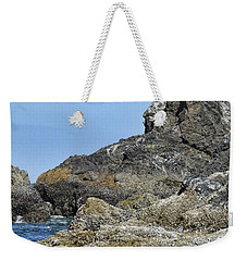 Weekender Tote Bag featuring the photograph Three Little Birds by Peggy Hughes