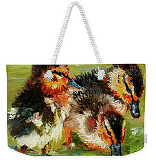 Three Little Ducks Weekender Tote Bag