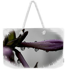 Weekender Tote Bag featuring the photograph Three Little Porch  by Yumi Johnson