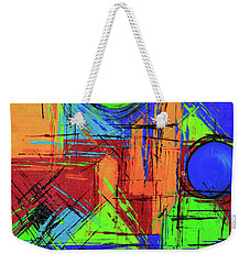 Weekender Tote Bag featuring the painting Three Moons by Jeanette French