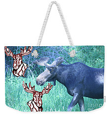 Three Moose Weekender Tote Bag