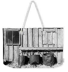 Three Old Buckets Weekender Tote Bag by Marius Sipa