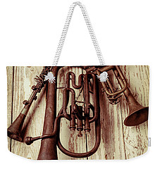 Three Old Horns Weekender Tote Bag by Garry Gay