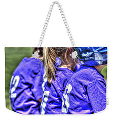 Three On The Bench 1621 Weekender Tote Bag
