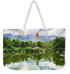 Three Pagodas Weekender Tote Bag by Wade Aiken