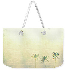 Three Palms In Color Weekender Tote Bag