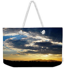Three Peak Sunset Swirl Skyscape Weekender Tote Bag