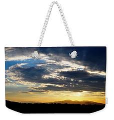 Three Peak Sunset Swirl Skyscape Weekender Tote Bag by Matt Harang