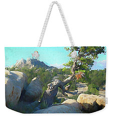 Three Peaks View Weekender Tote Bag