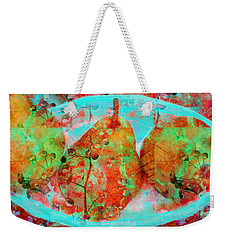 Three Pears On A Blue Plate Weekender Tote Bag