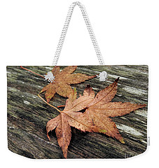 Weekender Tote Bag featuring the photograph Three by Peggy Hughes