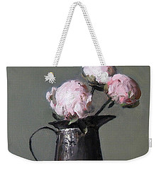 Three Peony Buds In Old Tin Can Weekender Tote Bag