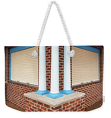 Weekender Tote Bag featuring the photograph Three Pillars At The Refreshment Stand by Gary Slawsky