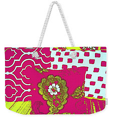 Three Pillows In Magenta Weekender Tote Bag