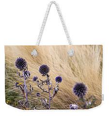Three Purple Echinops Weekender Tote Bag