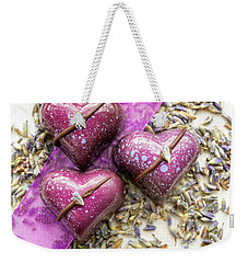 Three Purple Hearts Weekender Tote Bag