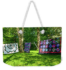Three Quilts In The Breeze Weekender Tote Bag