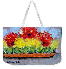 Three Red Flowers Weekender Tote Bag