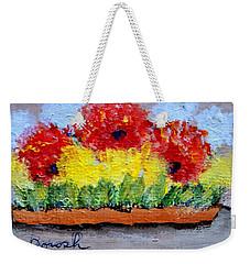 Three Red Flowers Weekender Tote Bag